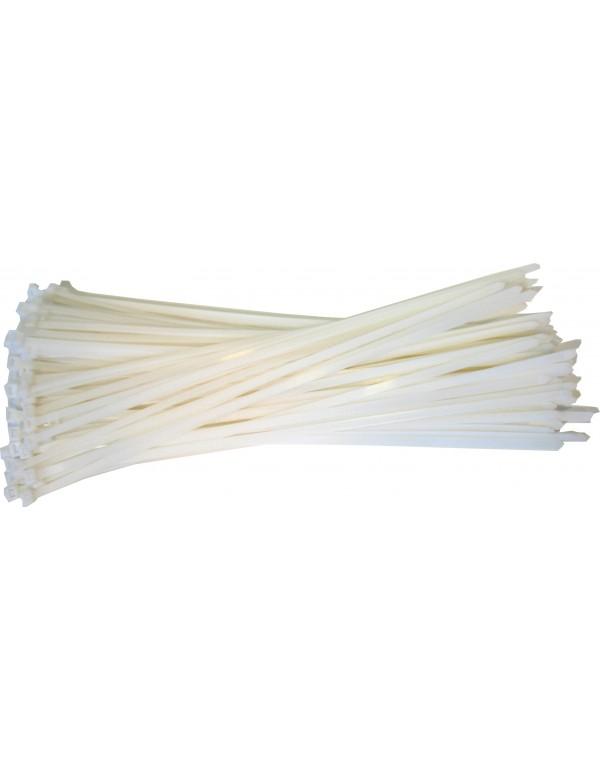 Kabelbinders 9,0 x 530 mm. wit - zak 100 stuks