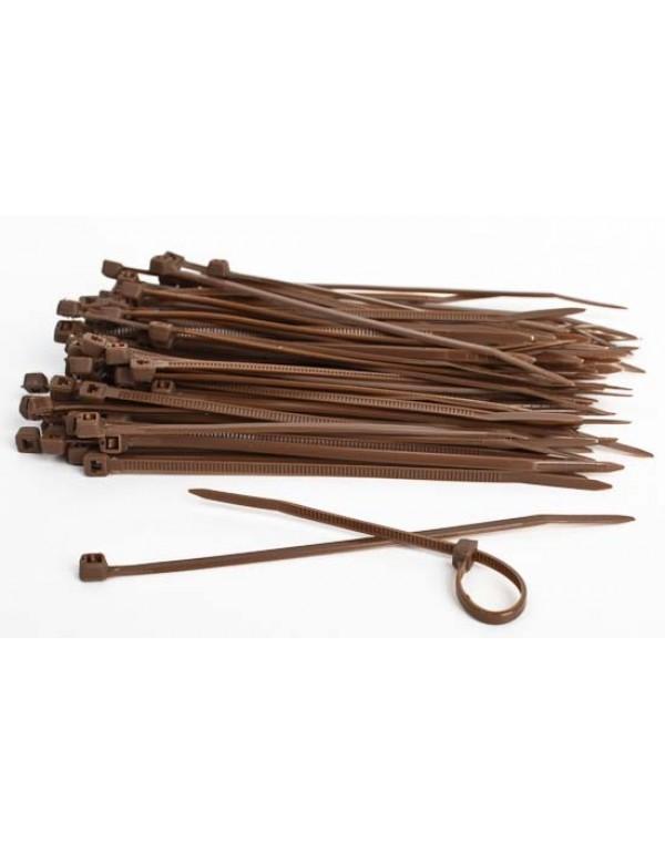 Kabelbinders 4,8 x 300 mm bruin - zak 100 stuks