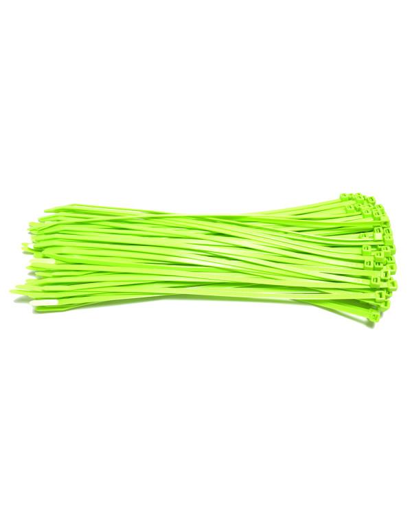 Kabelbinders 4,8 x 300 mm neon groen - zak 100 stuks