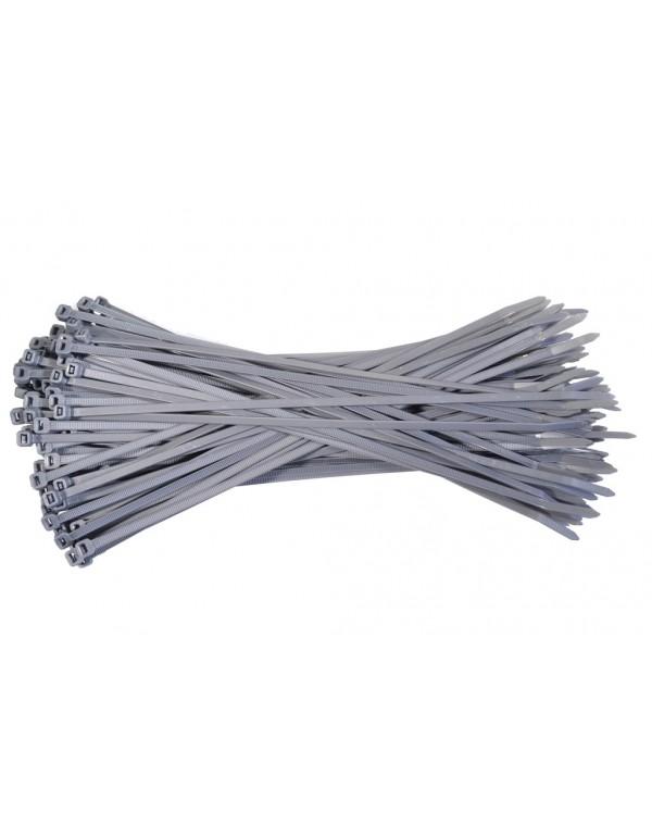 Kabelbinders 4,8 x 300 mm. grijs - zak 100 stuks