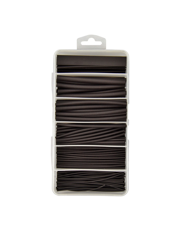 Krimpkous met lijm - 3:1 assortiment box 87 stuks - zwart