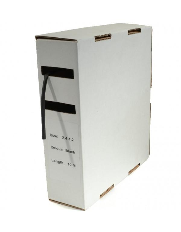 Krimpkous H-2 box 2.4 Ø / 1.2 Ø 10m zwart