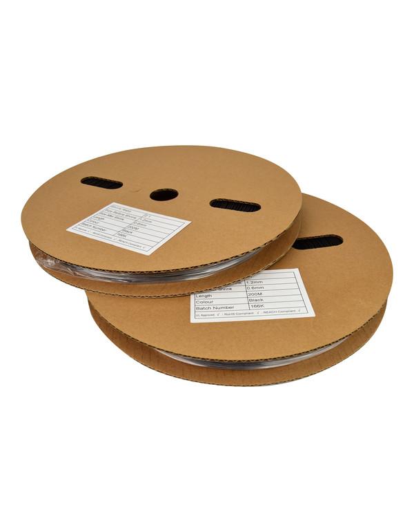 Krimpkous met lijm 3:1 - 3.2 mm Ø / 1 mm Ø - rol 200 meter - transparant
