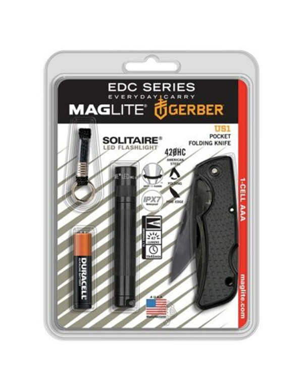 Maglite Mini AAA Zaklamp met zakmes - verpaking