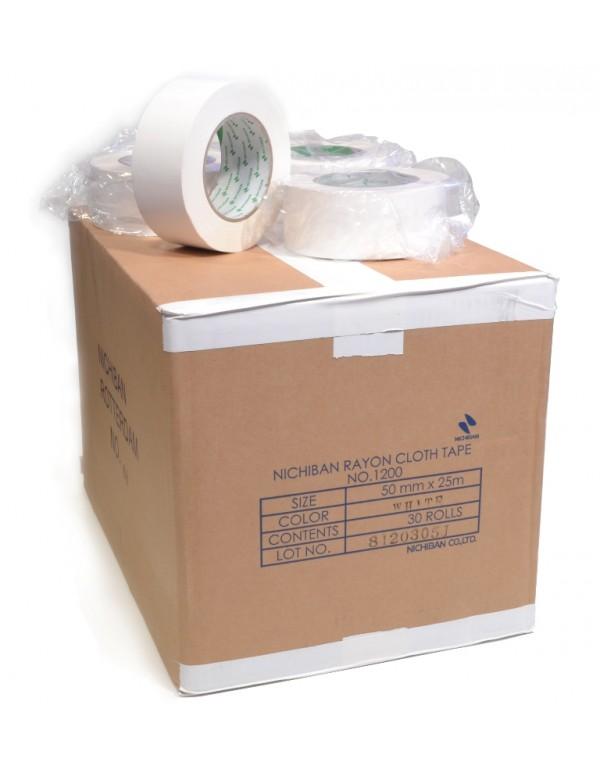 Nichiban tape 50mm x 25m wit - doos 30 rollen