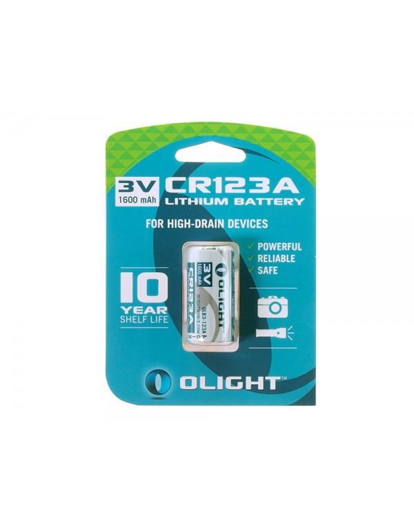 Olight CR123A lithium batterij 3V - 1600mAh