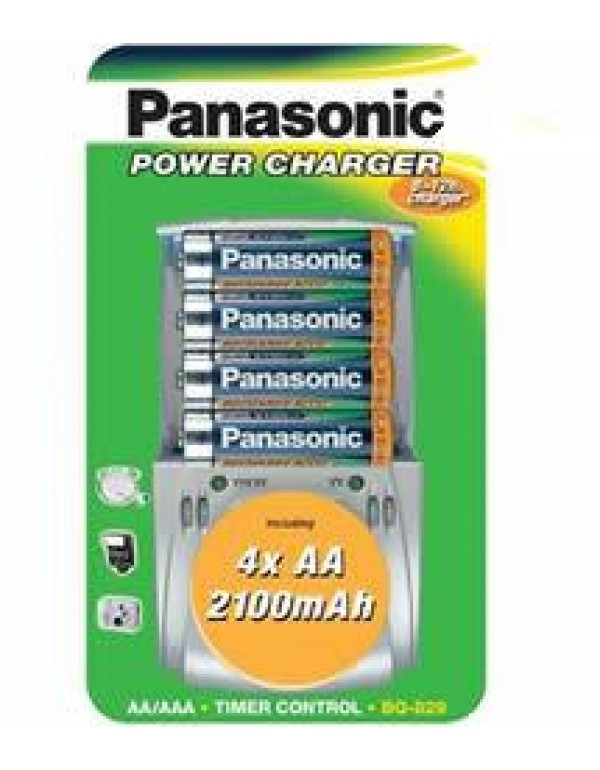 Panasonic Power Charger + 4 x AA 2100Ah