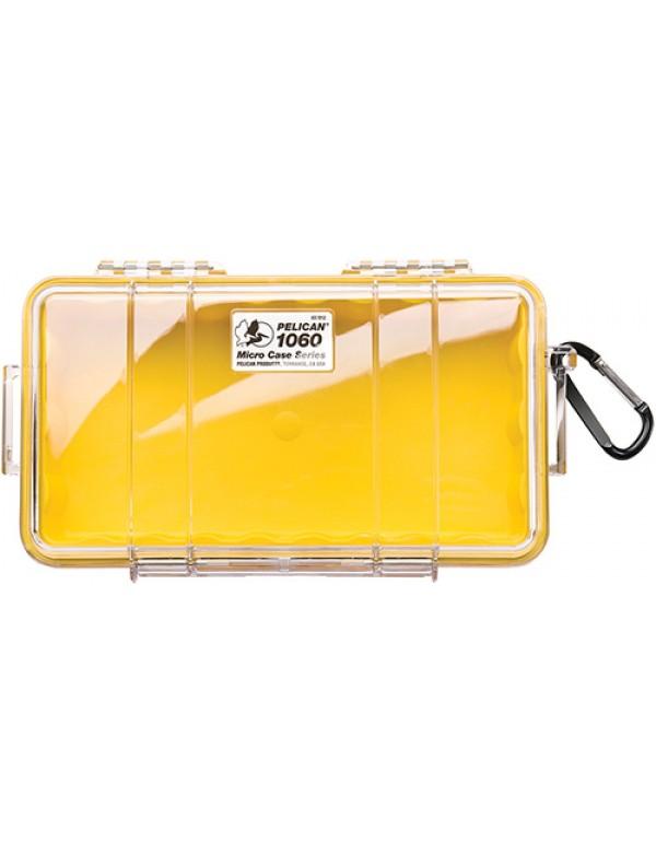 Peli Case 1060 Micro Transparant/Geel