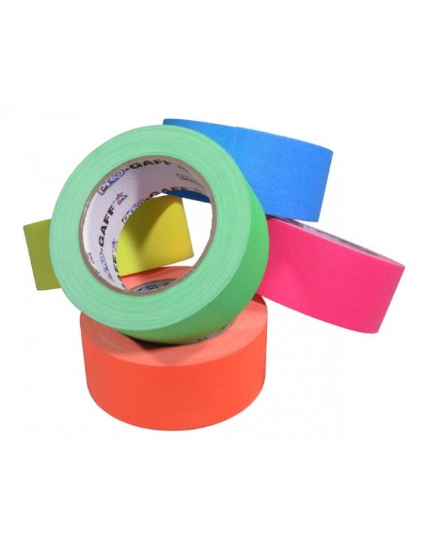 Pro-Gaff neon gaffa tape 48mm x 22,8m kleuren pakket