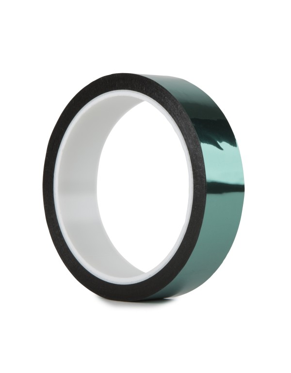 Pro metallic glans tape 24mm x 33m groen