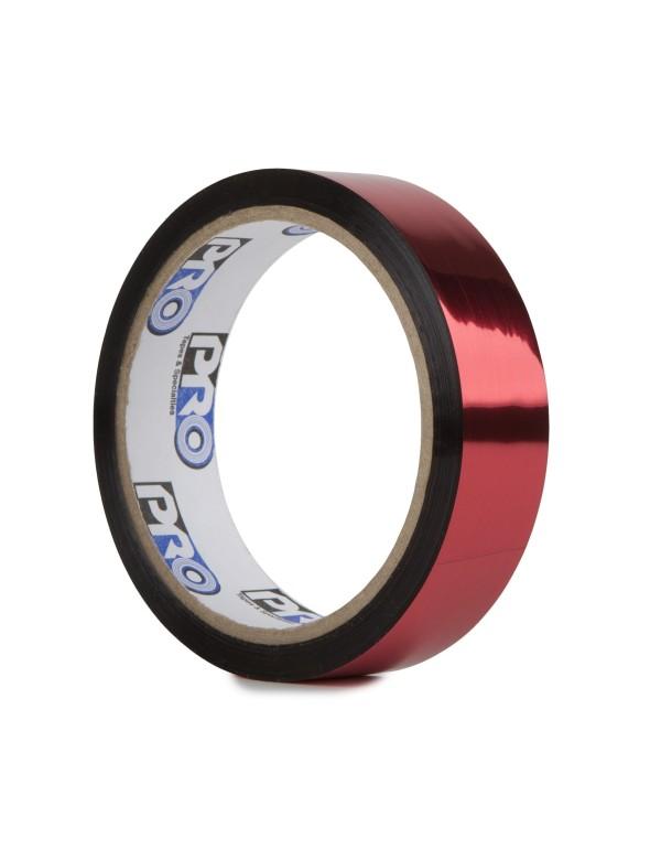 Pro metallic glans tape 24mm x 33m rood