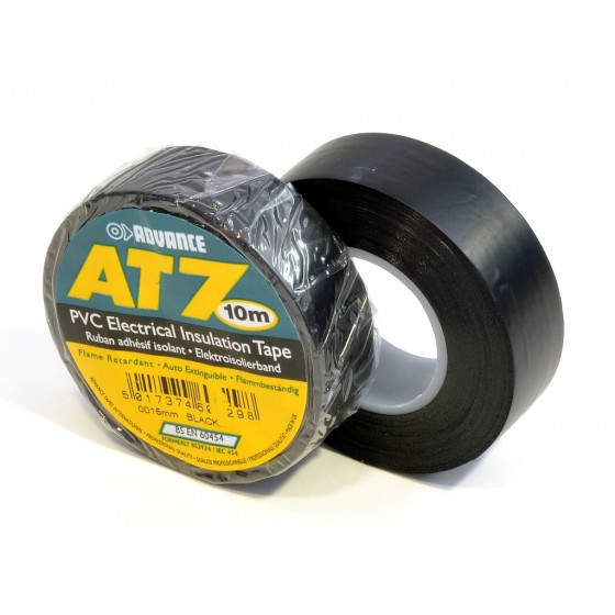 Advance AT7 PVC tape 15mm x 10m zwart