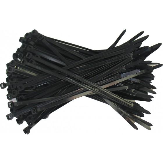 Kabelbinders 4,8 x 188 mm. zwart - zak 100 stuks