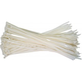 Kabelbinders 2,5 x 200mm. wit zak 100 stuks
