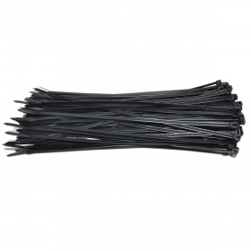 Kabelbinders 4,8 x 300 mm. zwart - zak 100 stuks