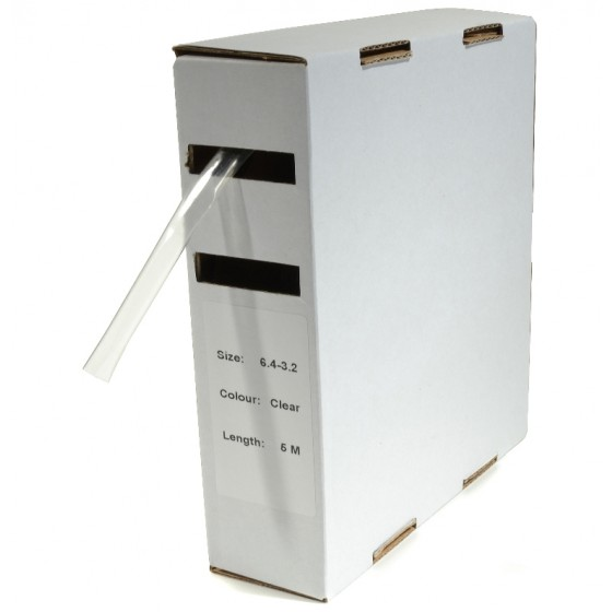 Krimpkous H-1 box 6.4 Ø / 3.2 Ø 5m transparant