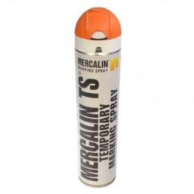 Mercalin TS tijdelijke markeringsverf - spuitbus 600ml oranje