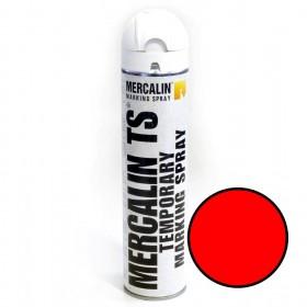Mercalin TS tijdelijke markeringsverf - spuitbus 600ml rood