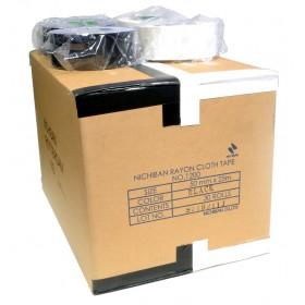 Nichiban tape 50mm x 25m - doos 15 rollen wit / 15 rollen zwart