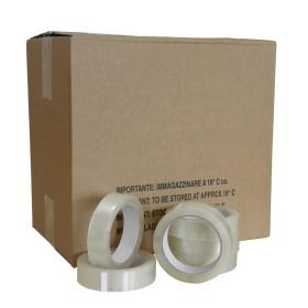 PVC  tape transparant 25mm. x 66 mtr.