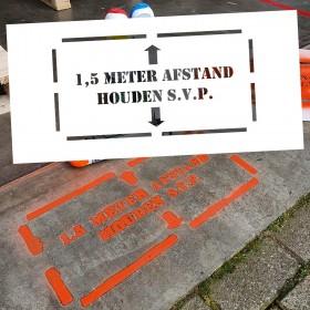 1,5 Meter Afstand Houden - markering sjabloon voor buiten
