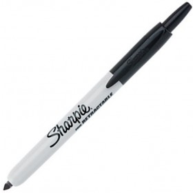 Sharpie Retractable permanent marker 1mm zwart