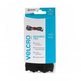 VELCRO® ONE-WRAP® klittenband kabelbinders - zwart - 15 stuks