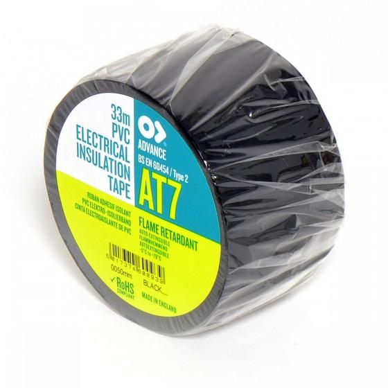 Advance AT7 PVC tape 50mm x 33m Zwart