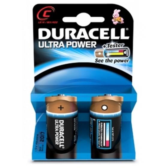 Duracell Ultra Power C-Cell 2 pack MN1400 batterijen