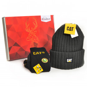 CAT Cadeaubox - Caterpillar Muts Grijs en Sokken