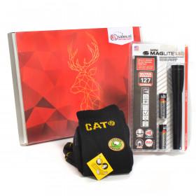 CAT & Maglite Cadeaubox - Maglite LED zaklamp en CAT Sokken