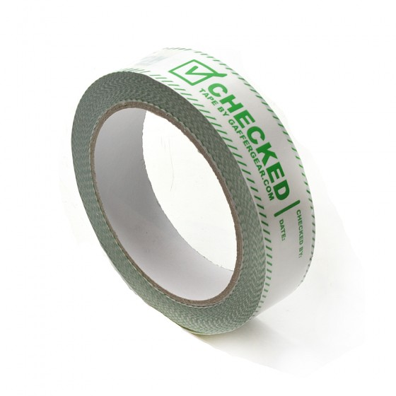 Gaffergear PVC Checked tape 25mm. x 66 mtr