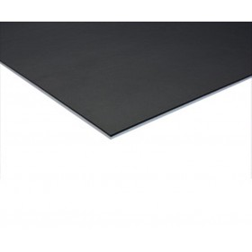 Coda dubbelzijdige dansvloer 200cm x 20m zwart / wit