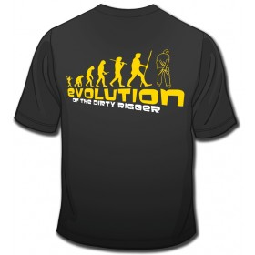 Dirty Rigger t-shirt Evolution voorkant