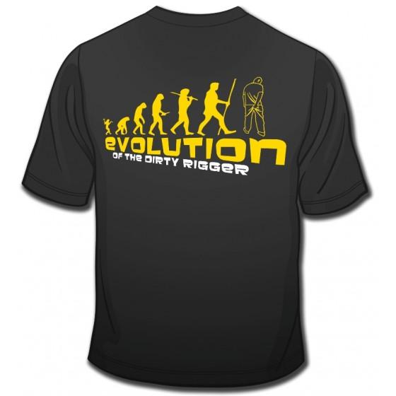 Dirty Rigger t-shirt Evolution voorkant