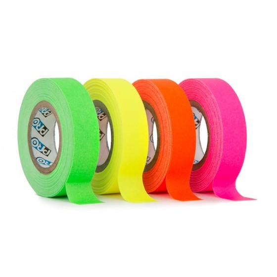 Pro paper tape mini rol 12mm x 9.2m mix groen - oranje - roze - geel