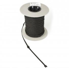 Klittenband kabelbinder 25mm x 300mm zwart, 500 stuks
