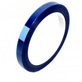 Hittebestendige polyester silicone tape blauw 10mm x 66m
