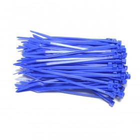 Kabelbinders 2,5 x 100 mm blauw  - zak 100 stuks