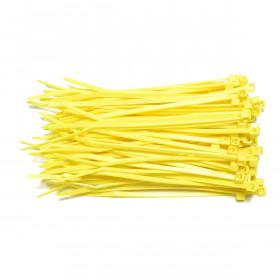 Kabelbinders 2,5 x 100 mm geel - zak 100 stuks