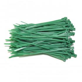 Kabelbinders 2,5 x 100 mm groen  - zak 100 stuks