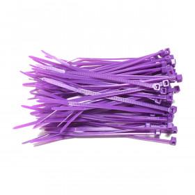 Kabelbinders 2,5 x 100 mm paars - zak 100 stuks