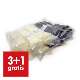 Kabelbinders 4,8 x 300 mm - 5 zakken zwart en 5 zakken wit