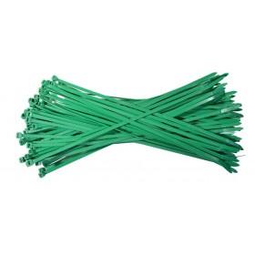 Kabelbinders 4,8 x 300 mm. groen- zak 100 stuks