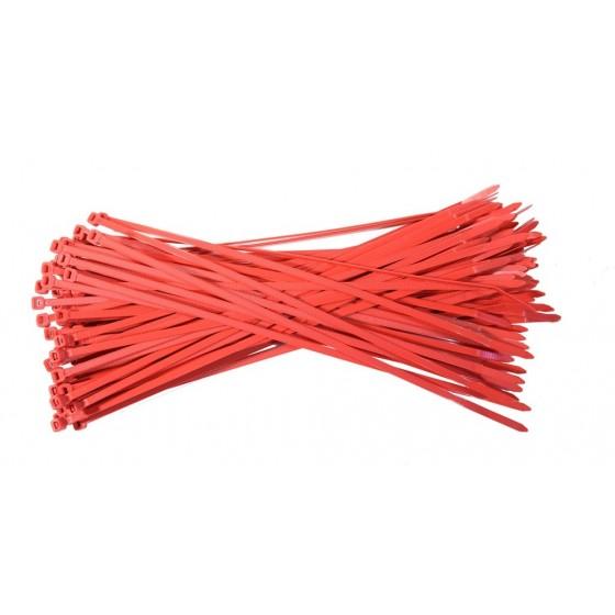 Kabelbinders 4,8 x 300 mm. rood- zak 100 stuks