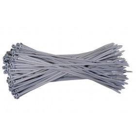 Kabelbinders 2,5 x 100 mm. grijs - zak 100 stuks