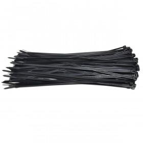 Kabelbinders 4,8 x 300 mm zwart  - zak 100 stuks