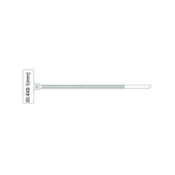 Kabelbinders met label 2,5 x 100mm wit zak 1000 stuks