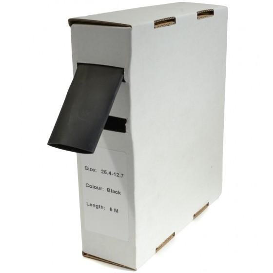 Krimpkous H-2 box 25.4 Ø / 12.7 Ø 5m zwart