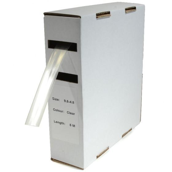 Krimpkous H-1 box 4.8 Ø / 2.4 Ø 10m transparant